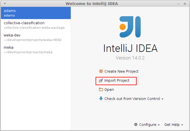 Get Started - IntelliJ IDEA | ADAMS